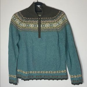 Eddie Bauer collectibles fair isle beaded sweater